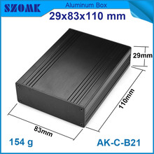 1 piece black brushed aluminum cabinet for electronics with heatsink  29*83*110mm