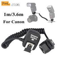 Pixel Keibe TTL Off Camera Hot Shoe Sync Remote Flash Extension Cord Flashgun Cable S/M For Canon TR 586EX YN 565EX II Speedlite