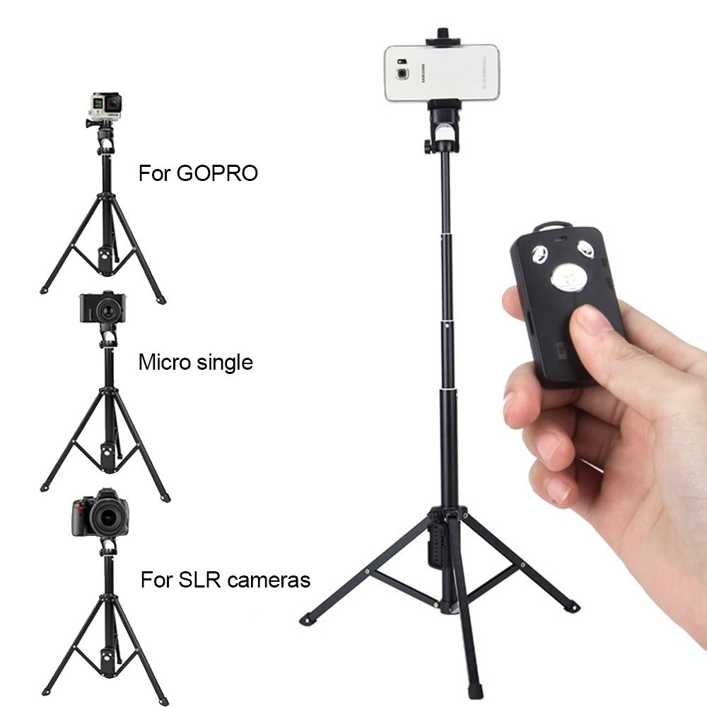 VCT-1688 3in1 Bluetooth Remote Shutter Handle Selfie Stick Mini Table Tripod For IOS Android Smartphone free shipping 43mm parnis polit dial silver numbers automatic men s watch pa4316sb