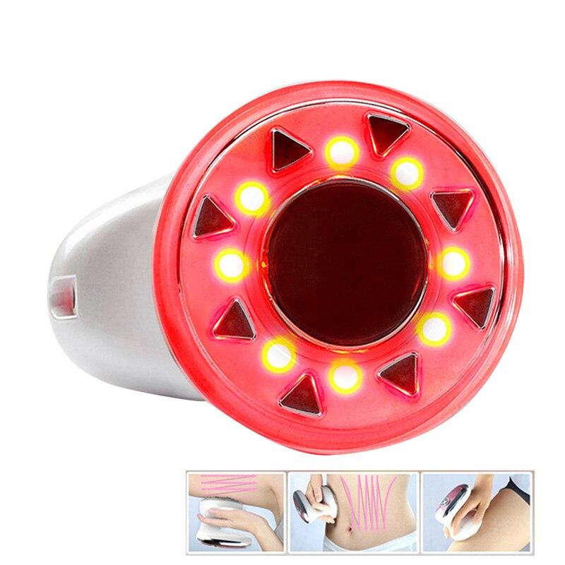 Nueva portátil RF cavitación ultrasónica LED Radio Frecuencia máquina masajeador adelgazante quemador de grasa Anti celulitis Lipo elevación de la piel