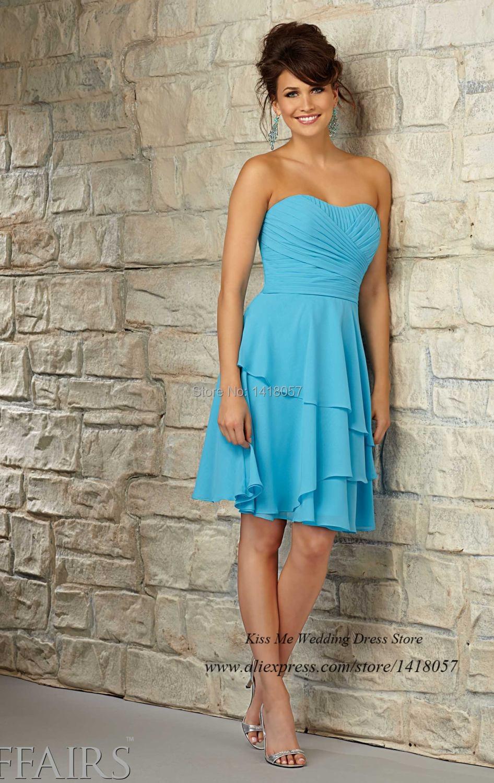 Aliexpress.com : Buy Free Shipping Turquoise Short Bridesmaid Dress ...