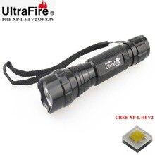 VUAN U-F 501B CREE XP-L HI V2 1600lm Cool White Light 8.4V 5-Mode OP LED Flashlight (1 x 18650/2×18650)