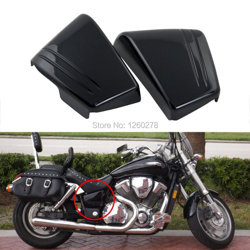 ФОТО Motorcycle Black Fairing Battery Side Cover For Honda VTX1800 VTX 1800C Custom 2002 2003 New
