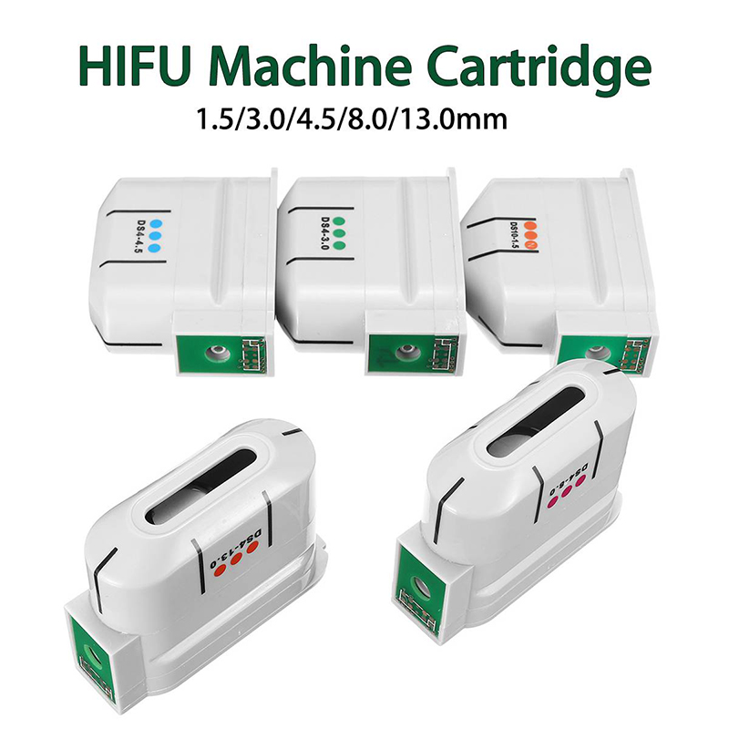 Dropshipping 2019 HIFU Ultrasound Face Machine 10000 Shots Anti Aging  HIFU Transducer /Exchangeable Facial Body Cartridge