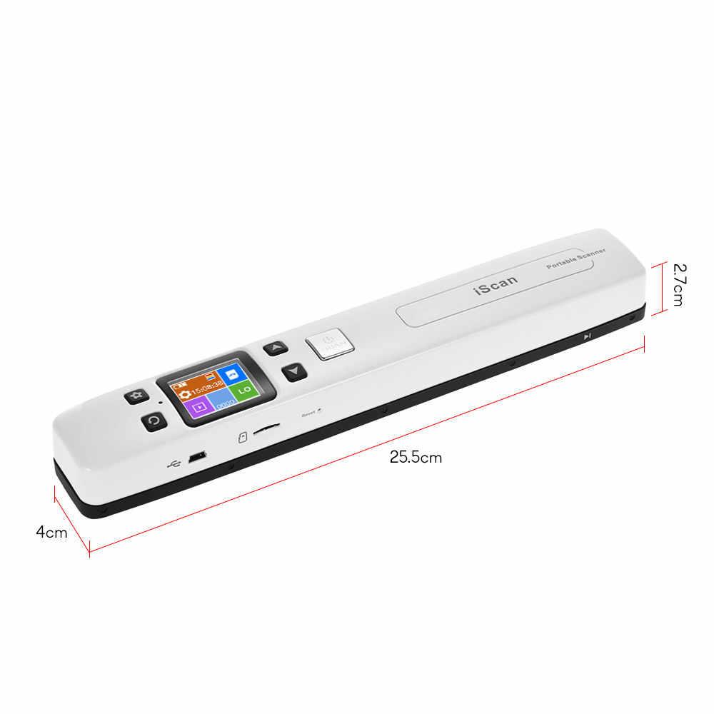 WiFi Portable Scanner HD LCD Display Handheld Document