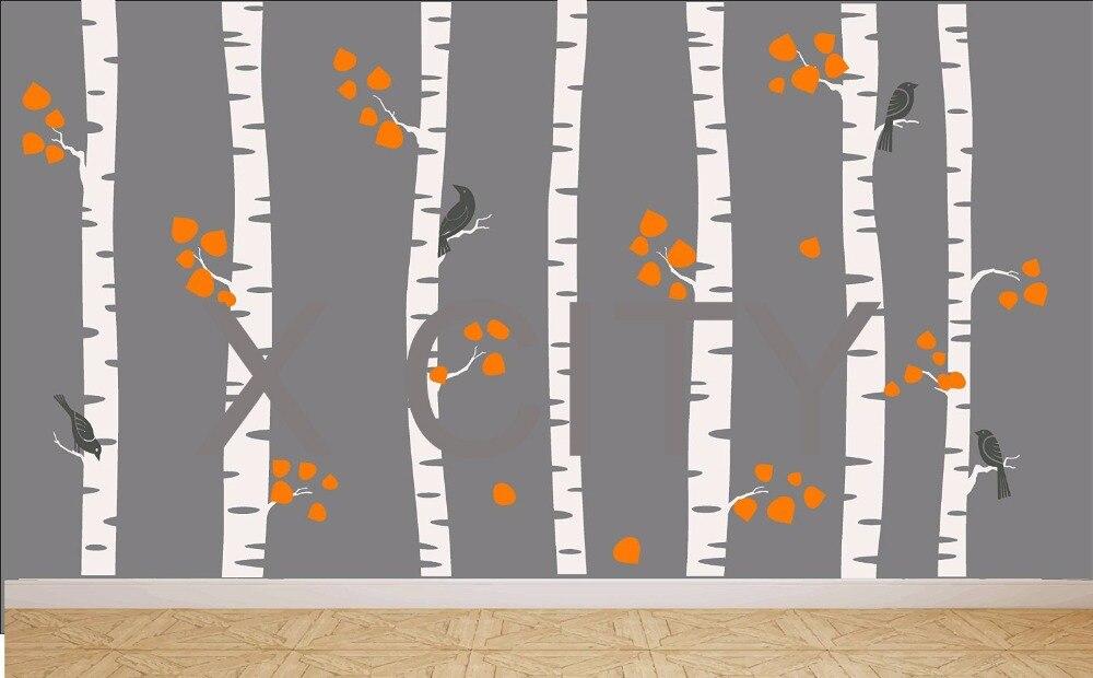 Acquista all'ingrosso online albero fotomurale stencil da ...