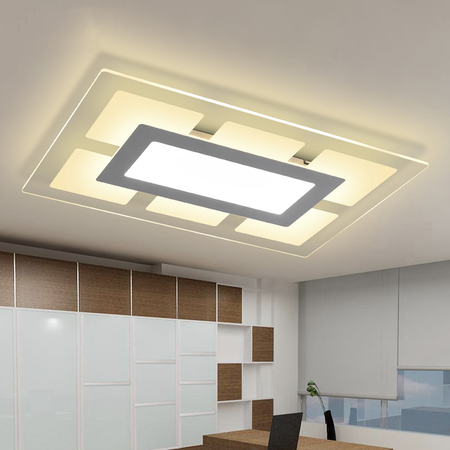 Modern led ceiling lights for indoor lighting plafon led - Plafones de techo led ...