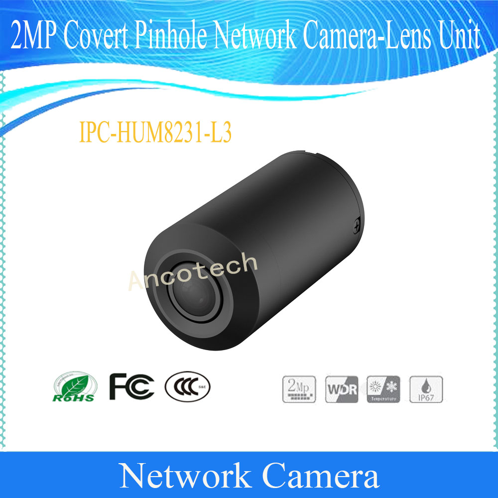 Dahua Free Shipping Security CCTV 2MP Covert Network Camera-Lens Unit without logo IPC-HUM8231-L3 free shipping dahua cctv camera 4k 8mp wdr ir mini bullet network camera ip67 with poe without logo ipc hfw4831e se
