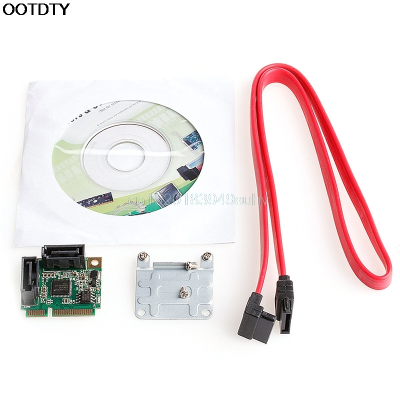Mini PCIe PCI-Express to 2 Ports SATA 3.0 III 6Gb/s Expansion Single Chip Card - L059 New hot