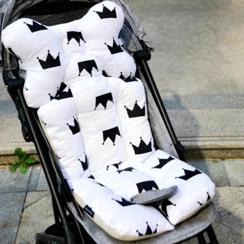 Baby Printed Stroller Pad Seat Warm Cushion Pad mattresses Pillow Cover Child Carriage Cart Thicken Pad Trolley Chair CushionA5 цены
