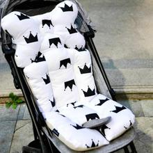 Baby Printed Stroller Pad Seat Warm Cushion Pad mattresses Pillow Cover Child Carriage Cart  Thicken Pad Trolley Chair Cushion