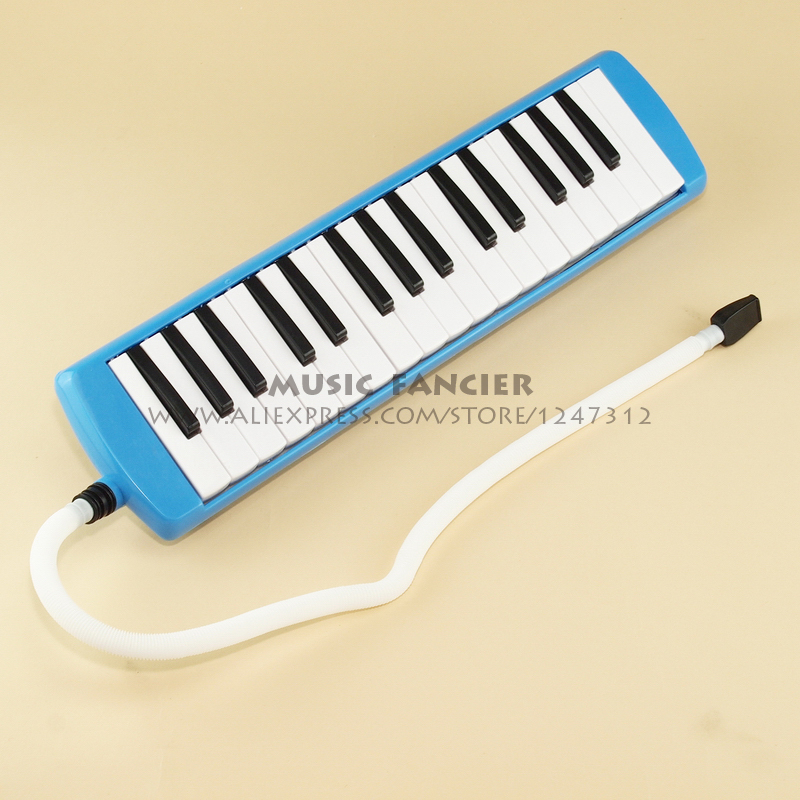 High-Quality BEE BM-32K <font><b>32</b></font> <font><b>key</b></font> <font><b>Melodica</b></font> Student <font><b>Melodica</b></font>/pianica Blue(With carrying bag,cleaning cloth..) Gift of choice image