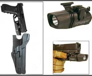 Военный кобура уровень 3 Тактический 1911 TAC SERPA M1911 LV3 пистолет кобура фонарик кобура черный
