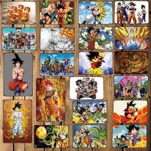 [ WellCraft ] Dragon Ball Metal Signs Cartoon Poster Decor for Bar Pub Home 20*30 CM FG-214