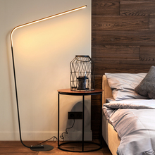 Remote control to adjust brightness and color temperature LED floor lamp for study bedroom Black/White Iron 24W standing lamp все цены
