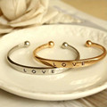 2016 Couples bangle bracelet alloy ladies fashion simple atmospheric bracelet  bracelet