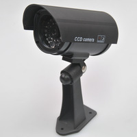 Gotake Outdoor Fake CCTV Camera Dummy Security Red LED Flashing Light Bullet Type With Bracket