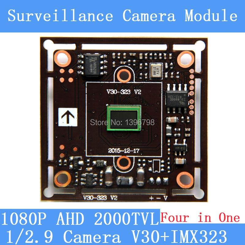 2MP1920*1080 AHD CCTV 1080P Camera Module Circuit Board,1/2.9 CMOS Four in One IMX323+ V30 2000TVL PCB Board PAL / NTSC Optional