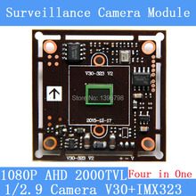 2MP1920*1080 AHD CCTV 1080P Camera Module Circuit Board,1/2.9 CMOS Four in One IMX323+ V30 2000TVL PCB Board PAL / NTSC Optional