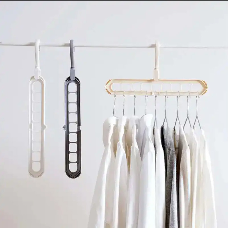 Multifunction Magic Hanging Chain Metal Clothes Support Drying Rack Creative Plastic Scarf Closet Shirts Tidy Hangers Save