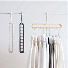 Multifunction Magic Hanging Chain Metal Clothes Support Drying Rack Creative Plastic Scarf Closet Shirts Tidy Hangers Save(China)