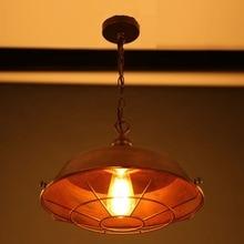 Lámpara pendiente de la vendimia/Simple vintage marrón de hierro cubierta de la lámpara De Luces De La Cocina Del Gabinete Sala de Estar/comedor tienda/cafe/bar/oficina