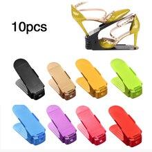 10pcs 6pcs 2pcs Durable Adjustable Shoe Organizer Footwear Support Storage Rack Stand Space Saving Cabinet Closet