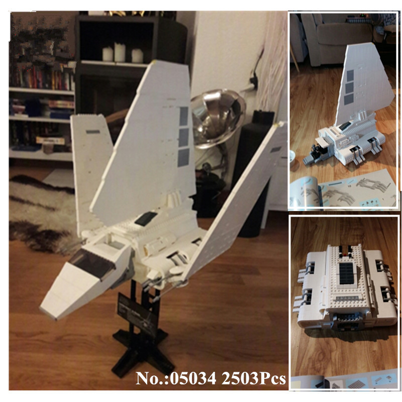 H HXY IN STOCK 2503 Pcs Star 05034 Series Wars The Imperial Shuttle Building Blocks Bricks