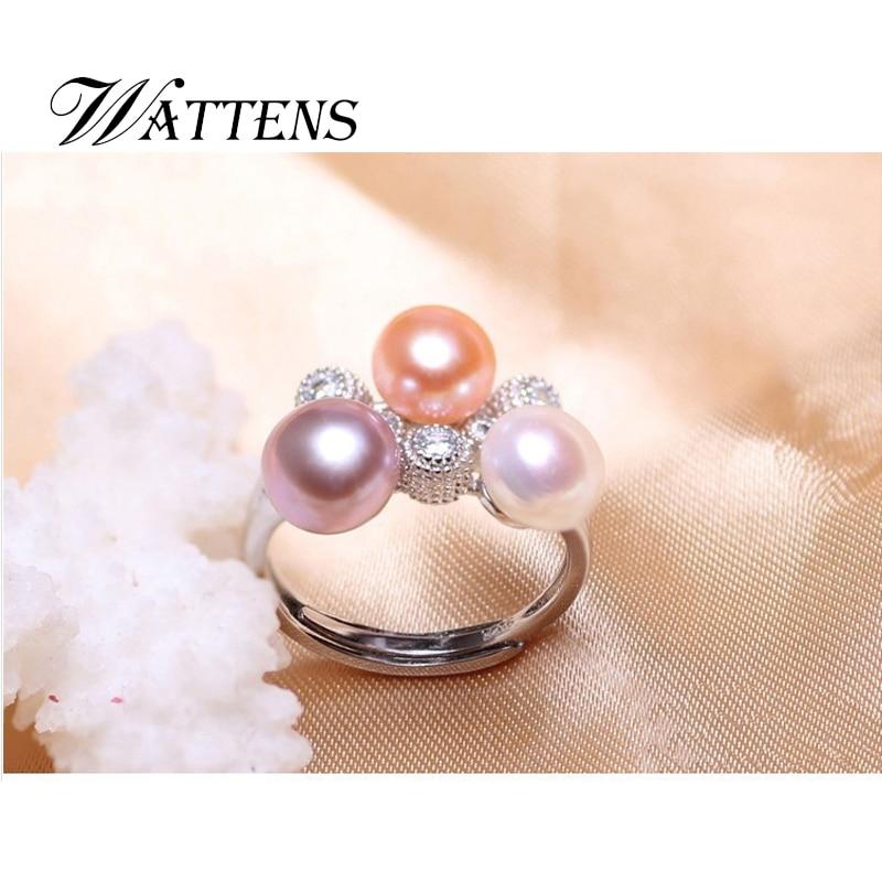 wholesale dealer 77919 daff7 Wattens accesorios de la joyería, de la perla de la manera Nueva joyería,  anillo genuino de la perla natural, anillos de boda para las mujeres, ...