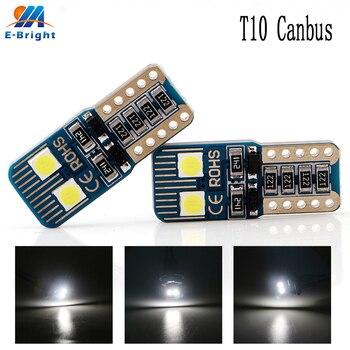 200X NO ERROR T10 3030 4SMD Canbus LED DC 9-16V Bulbs Car Indicator License Plate Lights Clearance Light 12V White