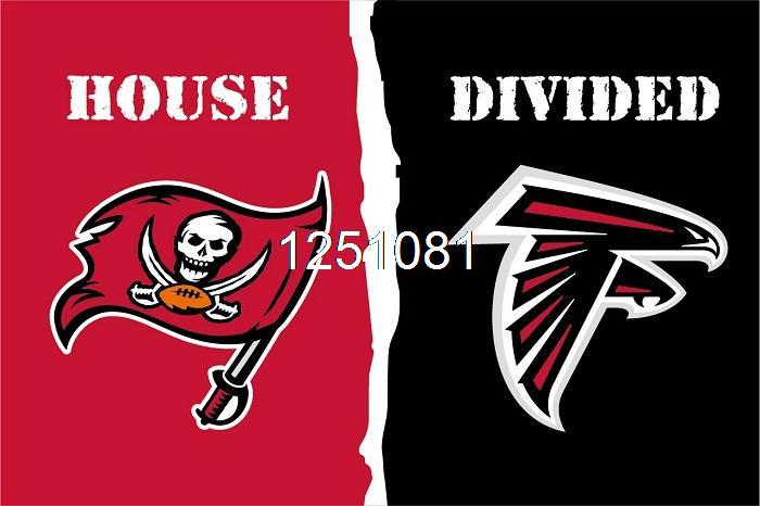 huge selection of c888a 2087d Tampa Bay Buccaneers Atlanta Falcons House Divided Flag 3ft ...