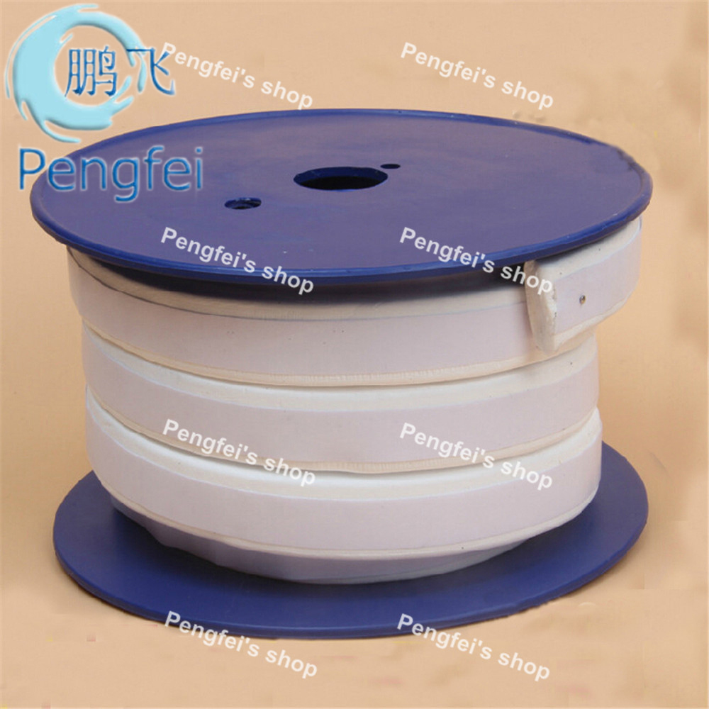 Free shipping 15m thickness 3mm width 10mm 3 10mm white self adhesive teflon foaming sealing strip
