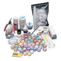ColorWomen 27pcs/Set Nail Art Manicure Sets Kit Nail Polishing Brushes Sequins Nails Decoration Tips Powder Clipper Prime 161027