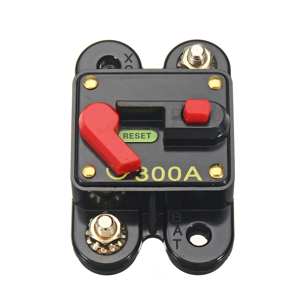DC Solar System Waterproof Circuit Breaker Reset Inline Fuse Push Button Panel