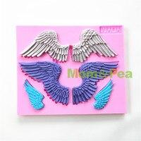 Mom Pea 0701 Free Shipping Big Wings Shaped Silicone Mold Cake Decoration Fondant Cake 3D Mold