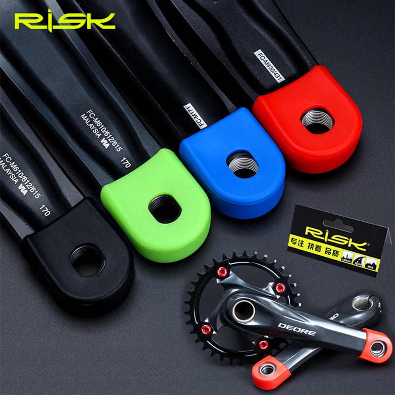 2 Pcs Silikon Sepeda Engkol Lengan Pelindung Cover Ras Wajah Engkol BOOT Pelindung MTB ROAD Sepeda Universal Crankset Pelindung Case