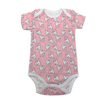 Baby Boy Girl Bodysuits 100%Cotton Infant Body Short Sleeve Clothing Similar Jumpsuit Printed Baby Clothes цена