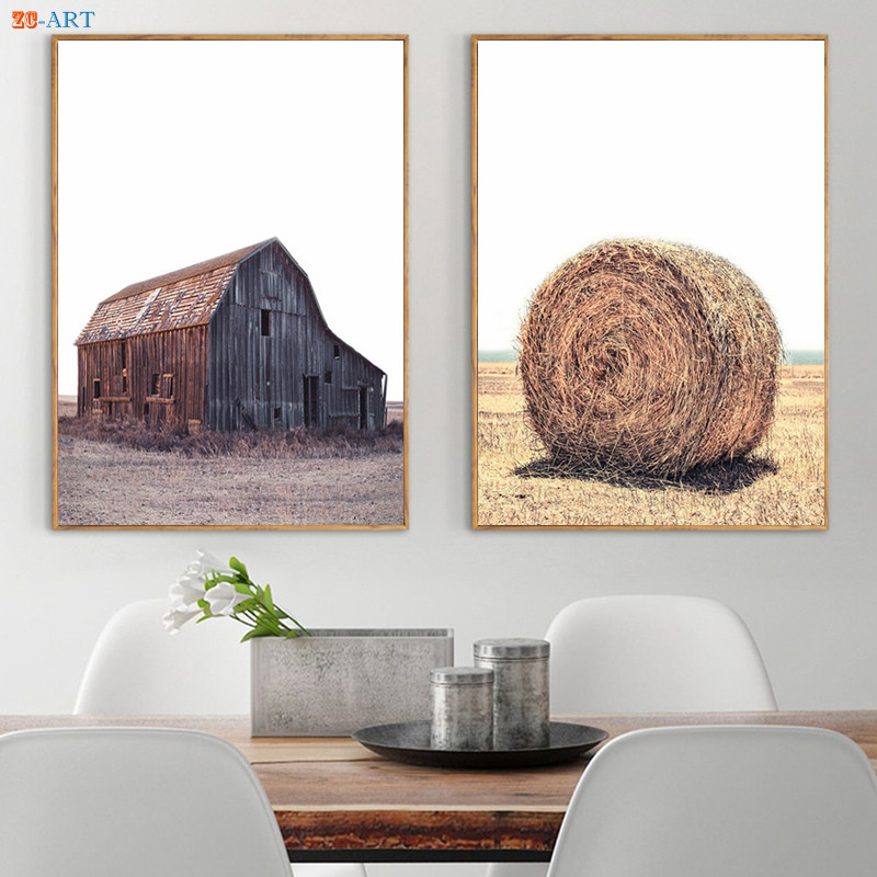 Golden Wheat Print Harvest Canvas Painting Farmhouse Wall Art Paintings on The Wall Country Style Art