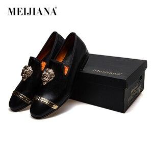 Image 5 - Meijiana mocassins masculinos de couro, mocassins casuais para homens, sapatos da marca luxuosos para dirigir