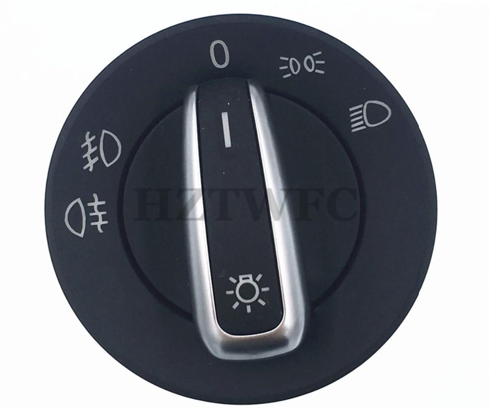 Frete Grátis 6RD941531 Cromo Farol Interruptor de luz de Nevoeiro Para AUDI A4 8E B6 TT Transporter 8N T5