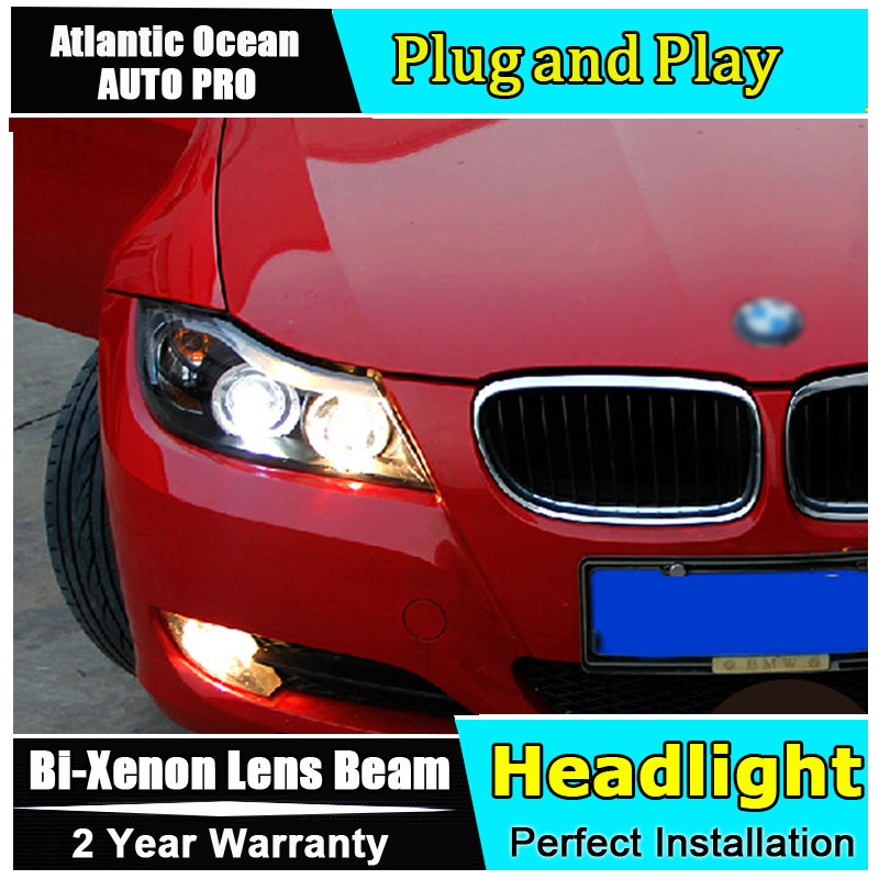 Car Styling LED Head Lamp for BMW E90 Headlights 318 320 325 LED Headlight angel eye headlight BI XENON front accesspories