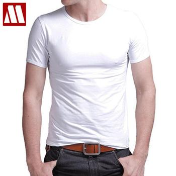 O-neck short sleeved cotton stretch tshirt