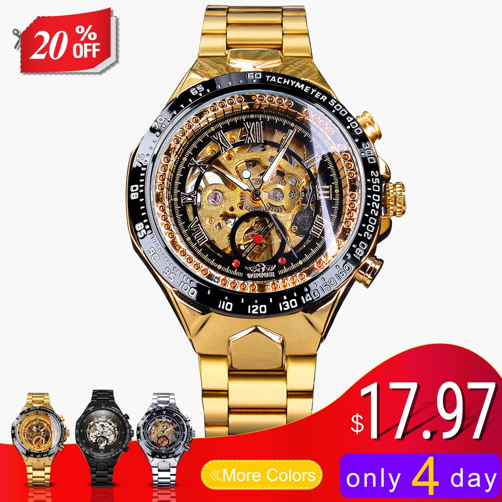 Winner New Number Sport Design Bezel Golden Watch Mens Watches Top Brand Luxury Montre Homme Clock Men Automatic Skeleton Watch camera cage rig heavy duty aluminum alloy lightweight dslr camera cage rig for bmcc blackmagic cinema camera