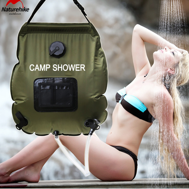 ФОТО camp shower  Water Bag 20L portable Outdoor with thermometer 2016 new shower bag Solar Shower  Camping showers free shipping