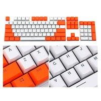 Teclado mecânico contraste com pbt  teclas para teclado mecânico de cherry mx de baixo perfil com 104 botões de jogo e extrator de chave