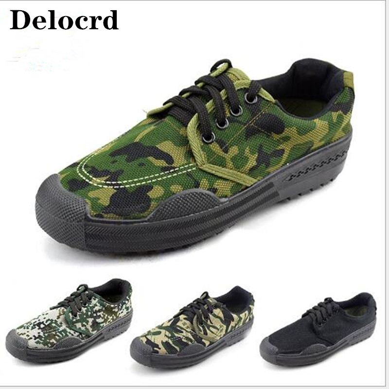 Studentsmilitarytraining-Shoes Rubber Non-Slip Male Camouflage Wear-Resistant