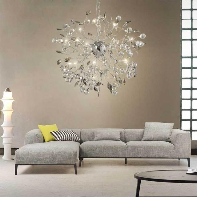 kreative moderne kristall led kronleuchter fr wohnzimmer lwenzahn design hngen leuchte esszimmer lster de cristal - Kronleuchter Fur Wohnzimmer