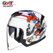 GXT New Motorcycle Helmet Motocycle Open Face Motorbike Capacete Moto Fashion Riding Biker Scooter Double Visor