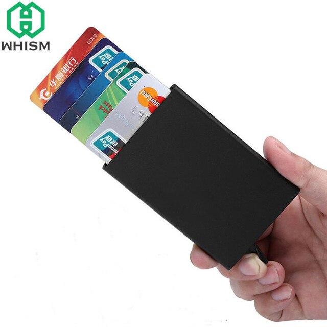 plus récent fef9c 8304e € 2.91 31% de réduction|WHISM métal porte carte de crédit automatique Pop  Up carte de visite boîte de rangement en acier inoxydable nom cartes ...