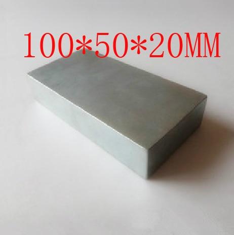 Magneet 100x50x20mm krachtige ambachtelijke neodymium zeldzame aarde permanente sterke N35 N35 - 2